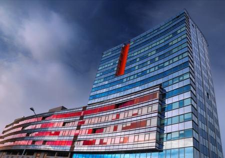 latvia: The contemporary high-rise building in Riga, Latvia.