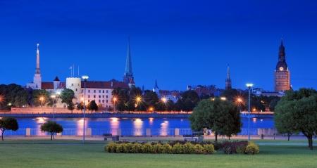 Riga castle on coast of Daugava river in Riga, Latvia. Stock Photo