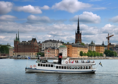 sights: Panorama of Stockholm, Sweden.