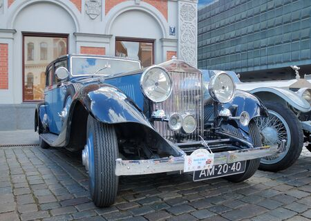 antiquarian: Riga, Latvia - July 10, 2012 - Parade of antiquarian made till 1940 cars Rolls Royce arrange by the British «The 20-Ghost Club».