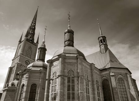 Riddarholmskyrkan Church is the burial church of the Swedish monarchs. Stockholm, Sweden. Stock Photo - 14599465