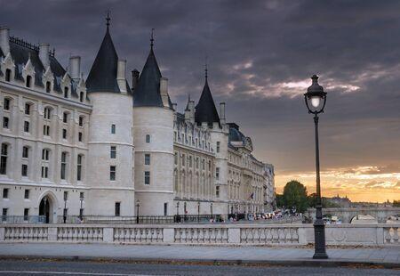 Conciergerieis, a former royal palace and prison. Seen from bridge Pont au Change. Paris, France. Stock Photo - 15438738