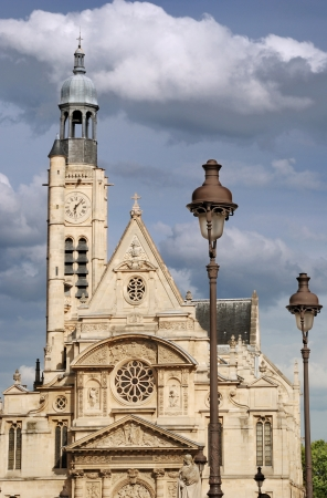 pascal: The church Saint-Etienne-du-Mont contains the tombs of Blaise Pascal in Paris, France.