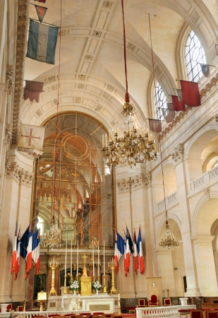 Altar of the chapel of Saint Louis des Invalides in Paris, France