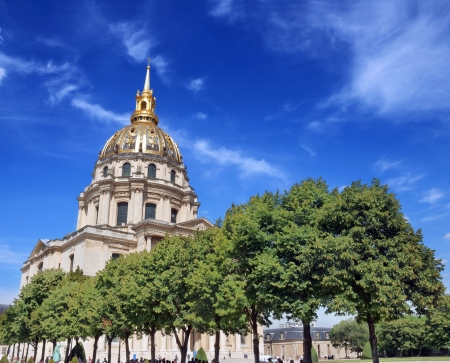 bas: Chapel of Saint Louis des Invalides in Paris, France