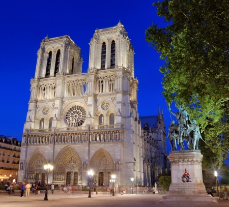 The cathedral Notre Dame de Paris in Paris, France. Stock Photo - 16019834