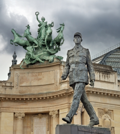 Monument to French general and statesman Charles de Gaulle on the Avenue des Champs-Elysees, in Paris, France. Stock Photo - 16019163