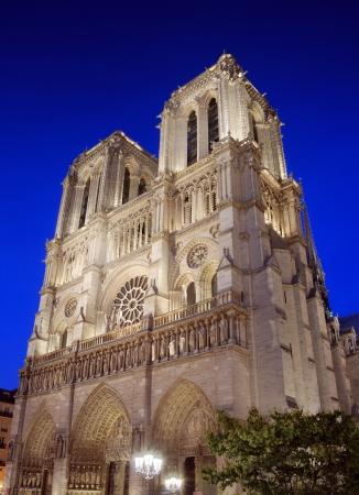 cite: The cathedral Notre Dame de Paris on island Cite in Paris, France  Stock Photo