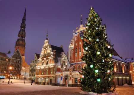 The Christmas on December, 24, 2012 in Riga, Latvia.