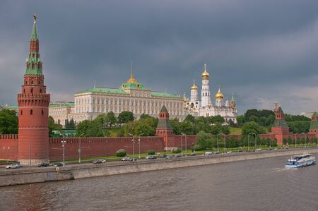 Moscow. View of the Kremlin Stock Photo
