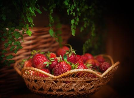 goodies: Basket of strawberries