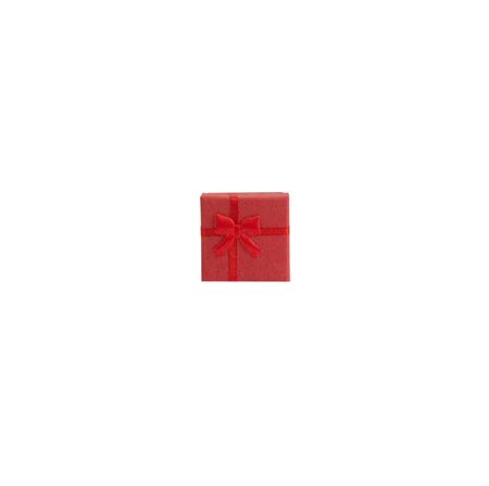box size: red gift box isolated on white background Stock Photo