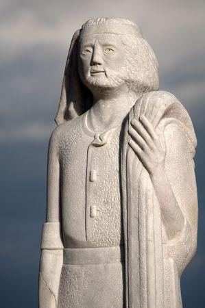 andrew: Saint Andrew statue, patron saint of fishermen