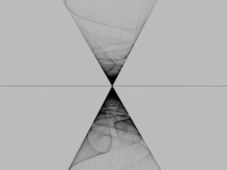 Smoke reflection - fractal abstract background Standard-Bild