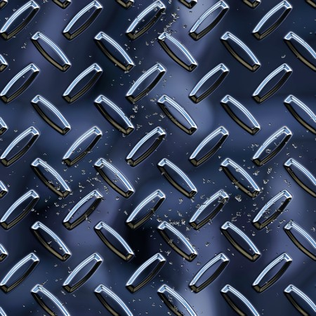 metal working: Diamond black plate background Stock Photo