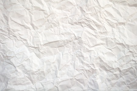 curled paper: Crushed white paper Stock Photo