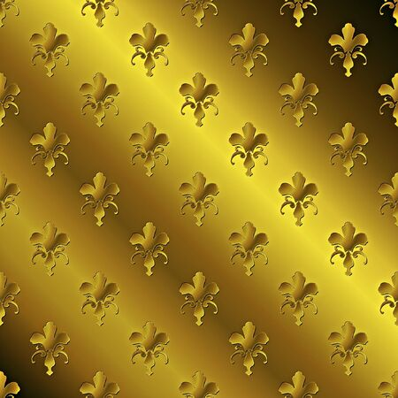 Seamless golden textured pattern Stock Photo - 7750079