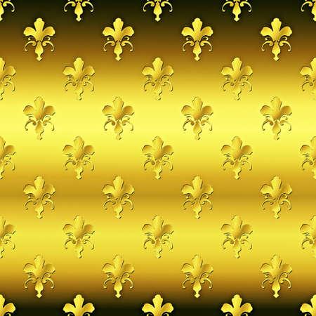 Seamless golden textured pattern  Stock Photo - 7750080