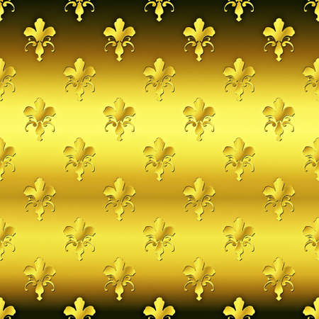 Seamless golden textured pattern Stock Photo - 7750080