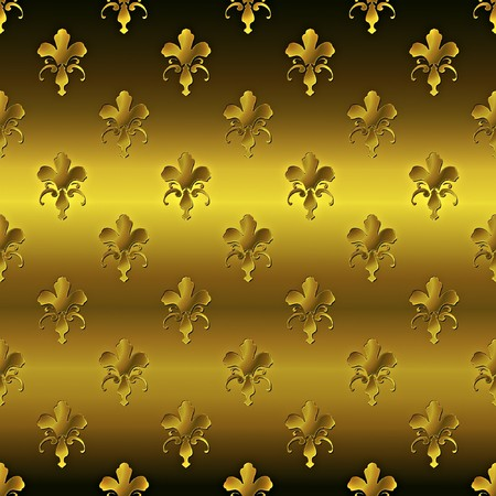 Seamless golden textured pattern  photo