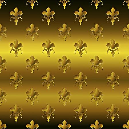 Seamless golden textured pattern  photo