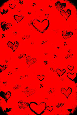 Valentine's day red grunge background Stock Photo - 8380727