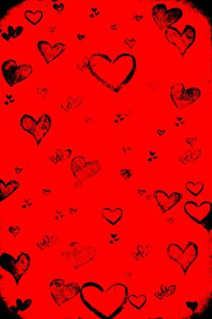 Valentine's day red grunge background Stock Photo - 8380727