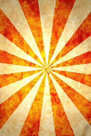 sun burnt: Paper with sun rays