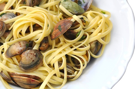 Linguine pasta and seafood