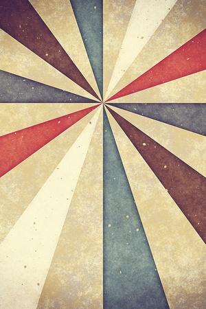 siebziger jahre: Vintage alten Blatt Papier mit sunburst