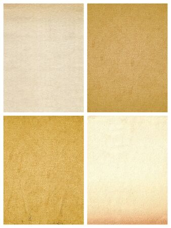 Old paper textures isolated on white photo