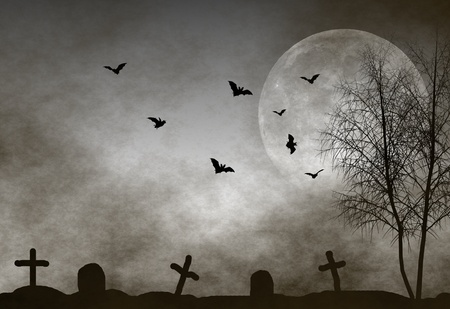 Halloween night background photo