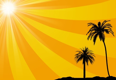 Summer tropical background Stock Photo - 9944615