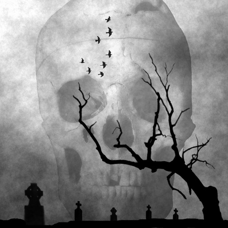 Spooky Halloween hintergrund Standard-Bild - 10754173