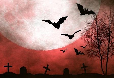 Geisterhaft Halloween hintergrund Standard-Bild - 10754175