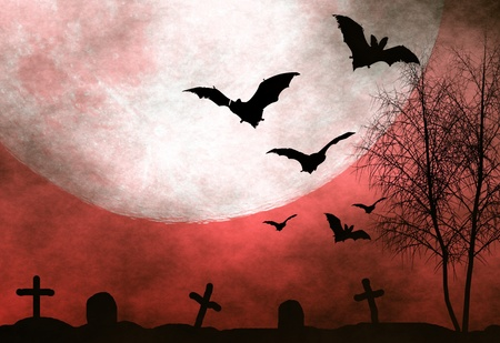 Spooky halloween background photo