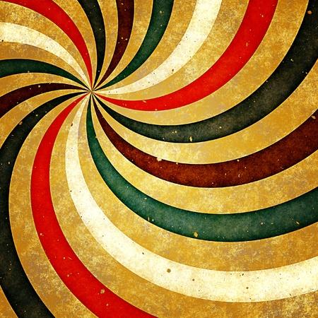 Grunge background with retro sunburst on old paper Standard-Bild