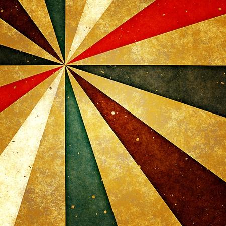 Grunge Hintergrund mit Retro-sunburst auf altem Papier Standard-Bild - 12022924