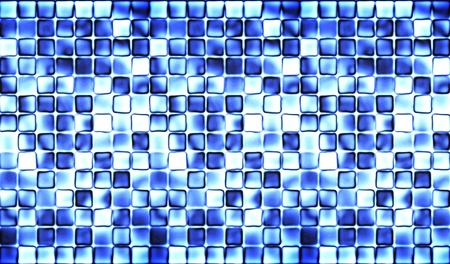 Abstract blue tiles background photo