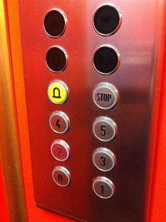 alarm button: Elevator buttons Stock Photo