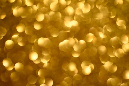 Abstract gold bokeh background. Christmas light background.