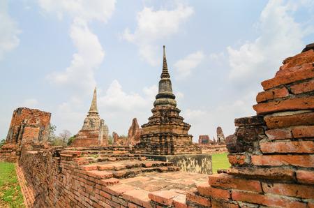ayuthaya: Wat  Mahathat  Ayuthaya Stock Photo