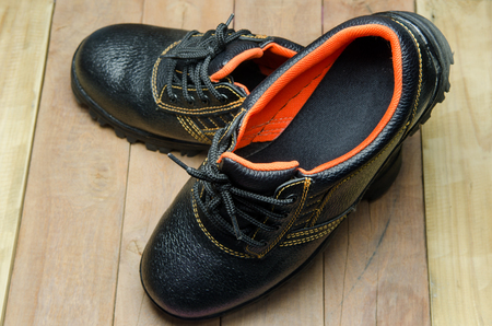 work boots: Black Steel Toe Safety of steel cap work boots .