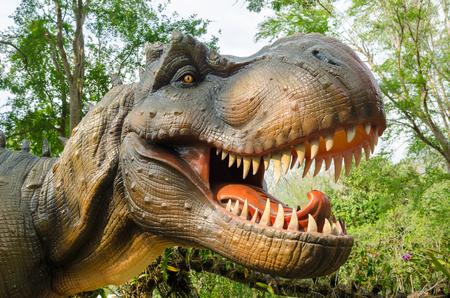 Aggressive T Rex model of dinosaurs.