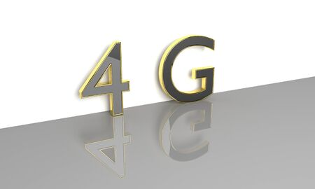 3g: LTE wireless communication technology concept. 4G 3D render.