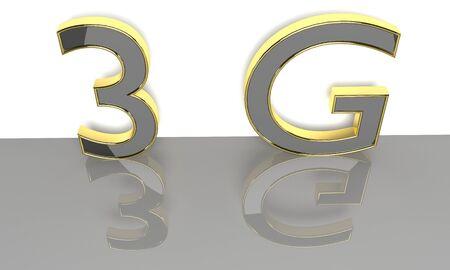 wireless communication: LTE wireless communication technology concept. 3G 3D render. Stock Photo