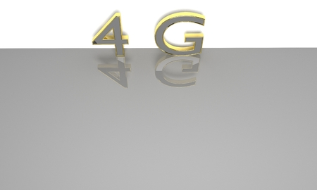 lte: LTE wireless communication technology concept. 4G 3D render.