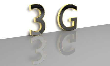 lte: LTE wireless communication technology concept. 3G 3D render. Stock Photo