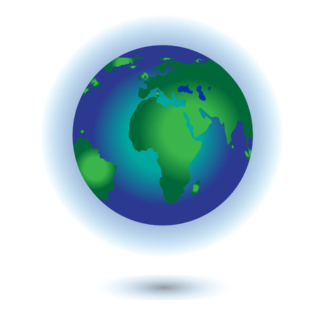 flat earth: Vector planet Earth icon. Flat planet Earth icon. Flat design vector illustration for web banner.
