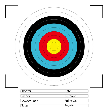 Archery Target. standard colorful bull's eye target for archery.
